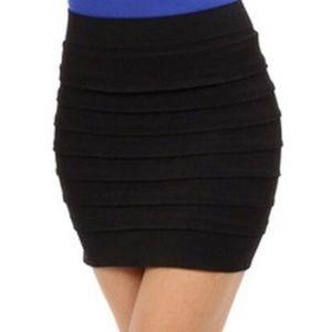 NikiBiki Black Ruffle Mini Skirt